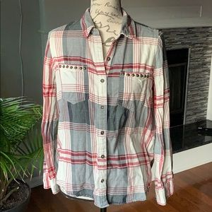Forever 21 plaid longsleeve button down